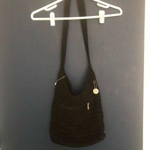The Original Sak Black Crochet Bag